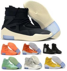 Quality Страх Бога 1 Баскетбольные Обувь Кроссовки AIRING 2020 Мода Оранжевый Пульс Света Костяная Костяная Амарилло Черные туманы Boots Zoom Mens W