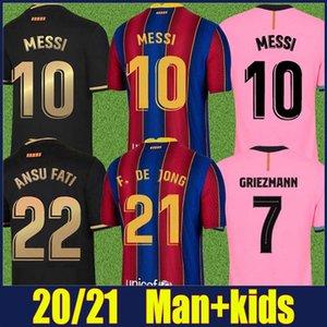 2020 spanischen Fußballverein Trikot Frenkie Lionel Andres Red blau gestreift Ansumane Antoine Fußball Jersey Mann Kinder Kit Camiseta FATI 20/21
