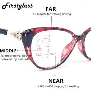 Kadınlar Kedi Gözlük Kadınlar Retro Progressive Multifocal Okuma Gözlükleri TR90 Yakınında Yakın Görünüm Büyüteç Presbyopia1