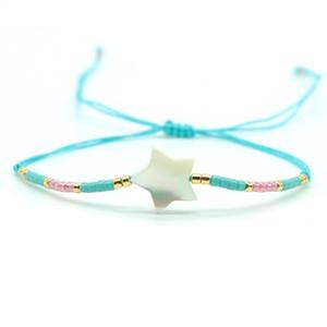 Bohemian Miuki Bracelets For Girls Women Small Seed Beads Braslet Adjustable String Brazalete Ethnic Braclet Friendship Jewelry