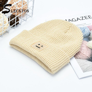 SLECKTON Knitted Beanies Hat for Men and Women Fashion Winter Hats Embroidery Hat Outdoor Ski Maks Female Caps Bonnet Unisex
