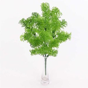Artificial Plant Grass Home Garden Landscape Plant Decor Wedding Party Plastic Fake Grass, 5 Branches