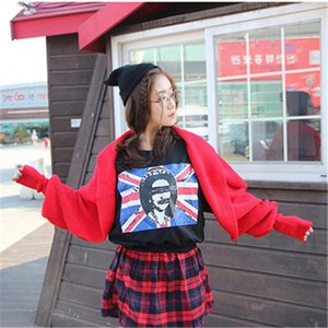 Cross-border exclusive for autumn and winter hot style wool scarf men and women lengthened bib shawl with sleeves knitted scarf k310