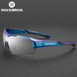 ROCKBROS GOGGLES DE PROTECCIÓN DE ROCKBROS HOMBRES BICICLETAS Gafas de sol Vidrio Deportes Bicicletas MTB Gafas de color mixto PUSNQ