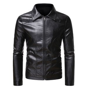 Black Biker Skulls Faux Leather Jackets Men Coats Zipper Slim Fit Short Hip Hop Casual Motorcycle Coats Male Tops Fitness Clothing M-3XL