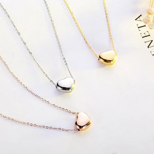 TY223 Simple love titanium steel necklace female stainless steel clavicle chain pendant
