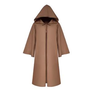 Sólido casaco com capuz Bandage Cloak Cosplay Outwear de Mulheres Homens Vintage meia luva
