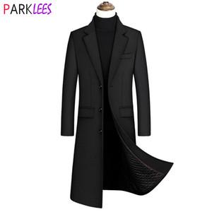2020 New extralange Wolle Trenchcoat Male Winter-Markemens-Kaschmirmantel Slim Fit Woll Peacoat Windjacke Manteau Homme 4XL