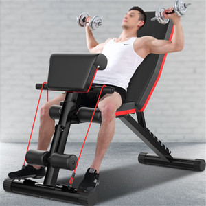Dumbbell Bench Home Professional Multifunctional Sit-ups Fitness Equipment Abdominal Muscle Board Fitness Chair Foldable Weight Bench