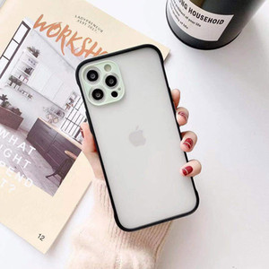 Matte Translucent Skin Feeling Phone Case For iPhone 12 11 Pro Max Xs Xr Xs Max 7 8 Plus With Lens Camera Protection