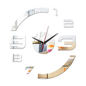 direct selling Acrylic Quartz wall watch the butterfly mirror clocks 3d Modern home decoration diy clock gift