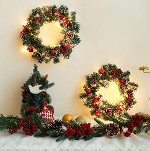 The latest 30cm led100 lights Christmas room Christmas hanging ring decoration lights pine cone Christmas lights string