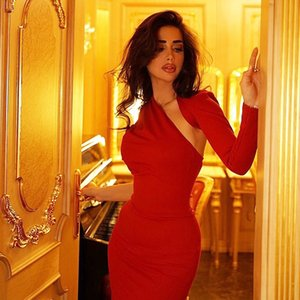 Adyce New Autumn Red One Shoulder Long Sleeve Bandage Dress Women Sexy Hollow Out Club Maxi Celebrity Runway Party Dress VestidoA1110