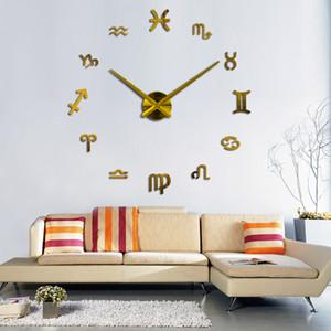 3D Watch Clock Living Room Quartz Acrylic Mirror Effect Home Decoration Modern Wall Stickers Clock Watch