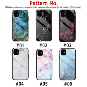 NEW Fashion Marble Tempered Glass Back Shell for iphone 11 pro max Shockproof Shield Mobile Phone Protection for iphone 6 7 8 XS MAX XR