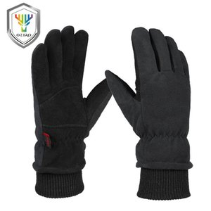 والدليل على قفازات الشتاء أوزيرو -30 ° F الباردة جلد الأيل الجلد المدبوغ القفازات الجلدية مقاوما للماء صامد للريح معزول لقيادة الدراجات المشي لمسافات طويلة