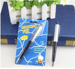 Bolígrafos parodia juguete Punto Pelota Fantasía divertido Pen impactante de la descarga eléctrica Broma regalo truco broma choque eléctrico novedad de la diversión pluma SN1597