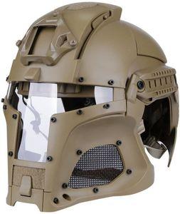Tattico della guida del Ballistic Helmet laterale NVG Sindone trasferimento della base di combattimento di Airsoft di Paintball maschera di protezione piena del casco