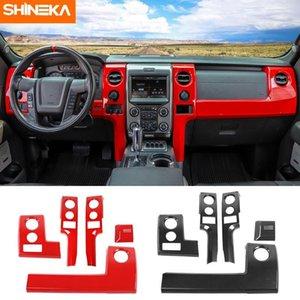 Shineka İç Kalıplar için F150 Raptor Araba Merkezi Konsol Paneli Dekorasyon Çıkartmalar Kitleri için F150 Raptor 2009-20141