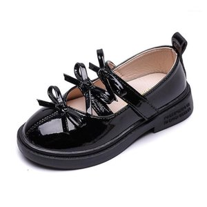 Girl Leather Shoes 2021 New Spring Children Girls Princess Shoes Bow Kids Retro Flats Toddler Sandals1