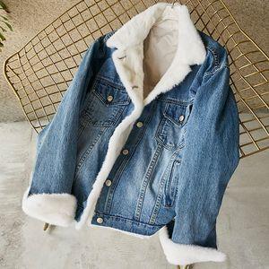 Pudi PK914 cappotto inverno delle donne in cotone denim parka collo di pelliccia di visone giù cappotti signora soprabito