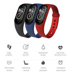 Bileklik M4 Akıllı Bant Spor Izci Spor Bilezik Pasometre Kalp Hızı Kan Basıncı Su Geçirmez Monitör Kalp Hızı Akıllı İzle