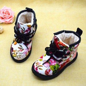 Elegante Charming 2020 caldo ragazze inverno floreale dei bambini della peluche Flower Child Martin stivali di moda Carino Kids Scarpe per la ragazza