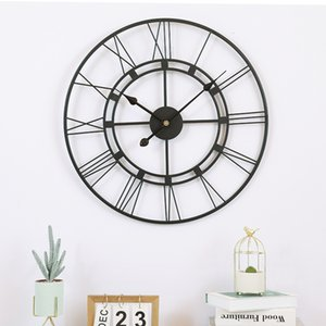 Iron art big wall 16 inch simple silent quartz clock guest hall home clothing store creative watch walllock