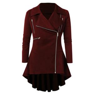 Womens Leather Jacket Hooded Long Sleeve Solid Long Sleeve Zipper Outerwear Coat Autumn Winter Women Coats Ladies #YL10