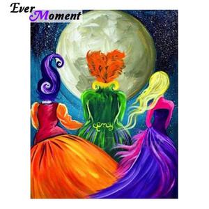 MOMENTO MOMENTO PINTURA DIAMIENTO Imagen hecha a mano de Rhinestone Girls Moon Decoration Diamond Bordery Taladro cuadrado completo 3F495 201128