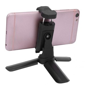 Mini dobrável tripé com destacável de 360 graus rotativa clipe de telefone mini-tripé monopé para Mobile Phone Canera Universal
