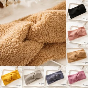 Women Headband Ear Warmer Fluffy Cross Knotted Wide Brim Hairband Winter Lovely Faux Fur Bandage Solid Color Hair Accessories Q bbyoOZ