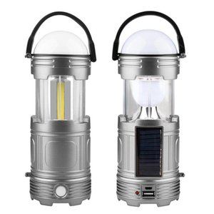 USB Charging Solar Lights Portable COB LED Outdoor Camping Emergency Lantern Tent Lighting for Outdoors Travel Hiking
