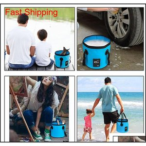 12l 20l Water Bag Portable Bucket Water Storage Carrier Bag Container Waterproof Camping Hiking Fishing Tra qylSnP packing2010