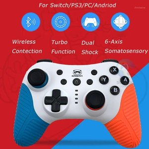 Hotsale 2 Color For Switch NS Bluetooth Wireless Controller Double Vibration Gaming Joystick Gamepads for PC Android PS31