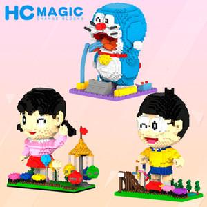 Micro-diamante Partículas Pequenas Blocos de Construção Tijolos Doraemon Série Ornamentos Educacional e Descompressivo Brinquedos Pai-Child Interactive T