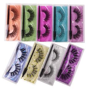ELP003 15 Styles 3D False Eyelashes with Eyelash brush Mascara brush fake Mink Lashes Dramatic Thick Natural Lashes 8-15cm length