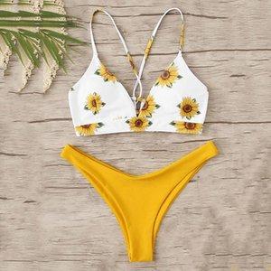 Womens Swimming Suit Bohemian Print Bikinis Swimwear Women Bikini 2020 Fashion Ladies Sexy Swimsuit Summer Beachwear Biquine