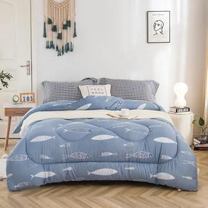 Balık Yaprak 150 * 200cm Çift 200 * 230cm Ev Tekstil Sonbahar Kış İçin Dolum ile Comforter Kalınlaşmak Yorgan Yumuşak Sıcak wv yazdır