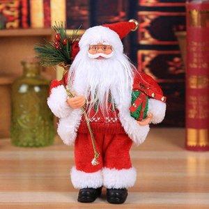 Weihnachten Sitzen Ornament Simulierte Weihnachtsmann-Puppe Old Man-Maske Plüsch Figur Spielzeug Animierte Puppe Weihnachtsgeschenk Dekoration Startseite xuuO 30cm C3 #