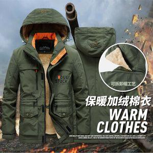 Autumn Winter Men Parkas Fashion Plus Velvet Padded Jacket 2020 Mens Hooded Casual Coat Thick Warm Outdoor Windbreaker Outerwear