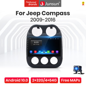 Junsun V1 Pro Android 10.0 AI Sprachkontrolle Autoradio Multimedia-Player für Jeep Kompass 1 MK 2009-2015 Navigation Nein 2Din DVD