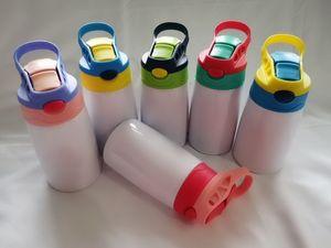 التسامي سيبي كوب التسامي زجاجة المياه الأطفال مع غطاء القش المحمولة الفولاذ المقاوم للصدأ شرب بهلوان البحار شحن DHB1799