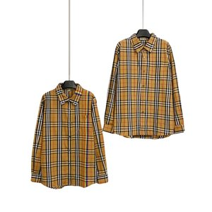 2020 pasarela marcas de moda para mujer para hombre B fresas diseñador clásico arco iris amantes a cuadros camisa de manga larga camiseta de la calidad superior de lujo StreeWear 1012