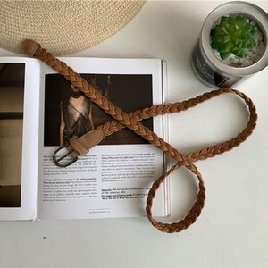 New Fashion Womens Belt Brief Knitted Rope Braid Belt Female For Dress High Quality Ceinture Femme