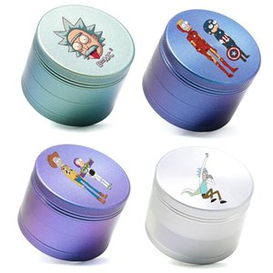63mm Herb Grinders Tobacco 4 Layers new style aluminum alloy rainbow color-changing Cigarette for Smoking accessories