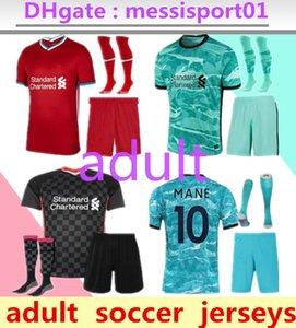 2020/2021 liverpool football top chemises de football jersey thaïlande qualité kit 2020/21 adulte avec des chaussettes