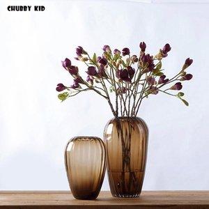 12 шт. / Лот! Оптовая продажа Hi-Q и высокий симуляционный магнолиас свадебные декоративные шелковые цветочные грозды поддельных магнолии днимюду орхидеи1