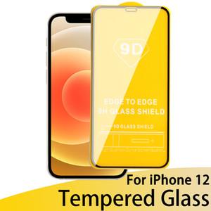 Новый 9D Полный Крышка Защитный корпус Закаленное Стекло для iPhone 12 11 Pro С Edge Закаленное Стекло с Розничной торговой площадкой DHL Бесплатная Доставка
