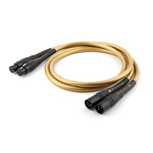Cgjxshi -Uç Yter Hexlink Altın 5 -C Xlr Bağlantı Kablosu, Denge Sinyal Tel T200608